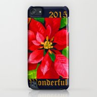 Christmas Poinsettia iPod touch Slim Case