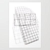 WIԘFRAME Art Print