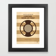 No055 My O Brother Where Art Thou minimal movie poster Framed Art Print