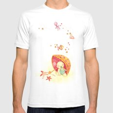 Baby beach Mens Fitted Tee SMALL White
