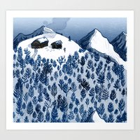 The mountains Art Print