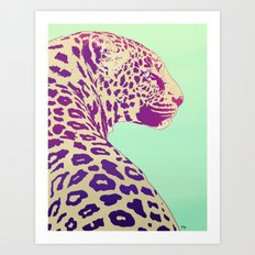Leopard under the Sun Art Print