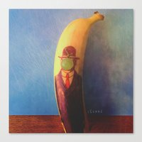 Le fils de la banana Canvas Print