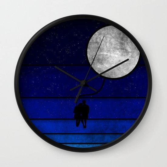 night full of stars Wall Clock