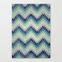 Chevron pattern_Blue Canvas Print