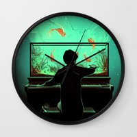 Le Pianoquarium Wall Clock