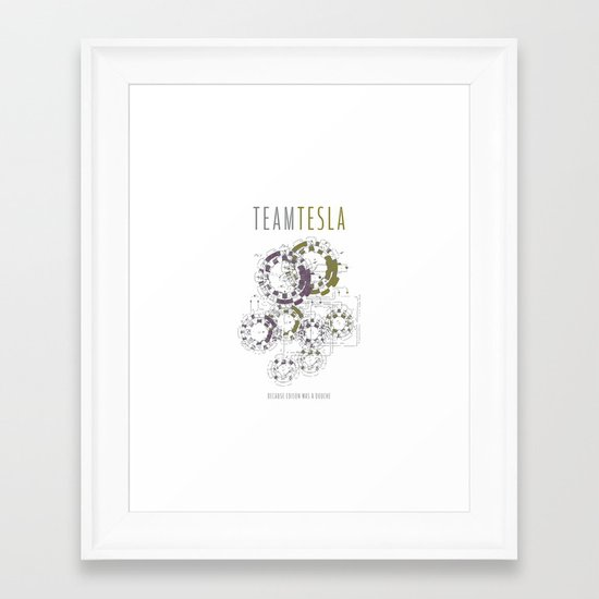 Team Tesla Framed Art Print