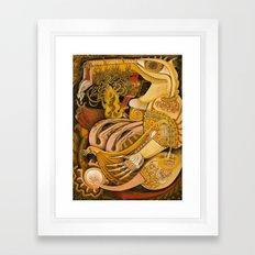 Purse Content Framed Art Print