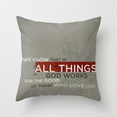 Romans 8:28 Throw Pillow
