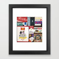 Consumption of goods Framed Art Print
