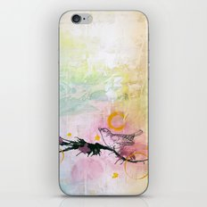 LITTLE BIRD ON BRANCH iPhone & iPod Skin