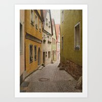 Italian Alley - Bright C… Art Print