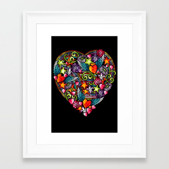 my heart has wings Framed Art Print