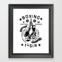 Boxing Framed Art Print