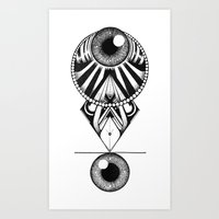 The Balence Eyes Art Print