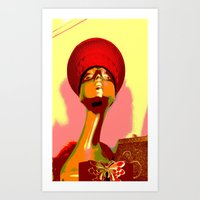 Vintage: The Zulu Hat Art Print