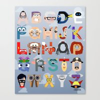P is for Pixar (Pixar Alphabet) Canvas Print