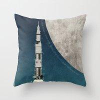 Apollo Rocket Throw Pillow