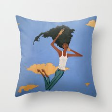 Floating Fro Man Throw Pillow