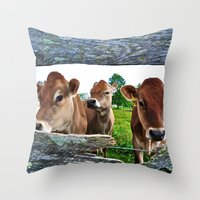 The Other Side Of The Fence Throw Pillow