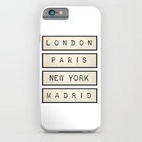 iPhone & iPod Case featuring London   Paris   New York   Madrid by Shabby Studios Design & Illustrations ..