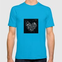 Heart2 Black Mens Fitted Tee Teal SMALL