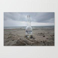Corona on the beach Canvas Print