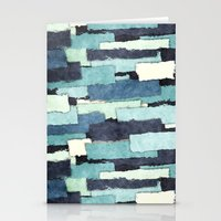 Layers of Colors Pattern Stationery Cards