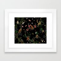 Monkey World Framed Art Print