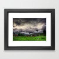 Low Clouds Framed Art Print