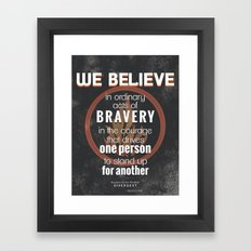 Dauntless Manifesto Framed Art Print