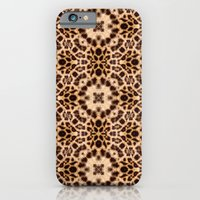 iPhone & iPod Case featuring Leopard Kaleidoscope Wild Animal Print by TDSWHITE