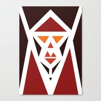 Five Triangle Faces - The Pope Canvas Print