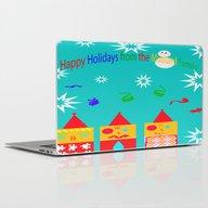 Happy Holidays Laptop & iPad Skin