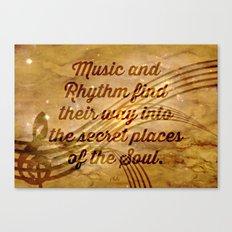 Plato's Quote on Music  Canvas Print