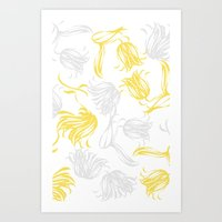 Bright Breezy Tulips Art Print