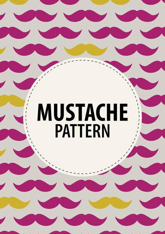 Mustache pattern Art Print