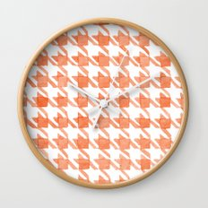 Watercolor Houndstooth Wall Clock