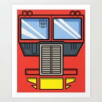 Transformers - Optimus P… Art Print