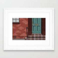 Green Door No. 6 Framed Art Print