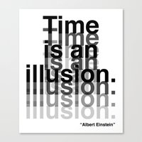 Canvas Print featuring Illusion (Albert Einstein)  by DeMoose_Art