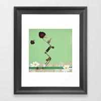 the rose  spring Framed Art Print