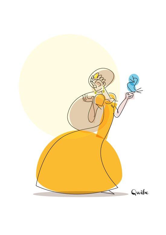 The princess and the tweet Art Print