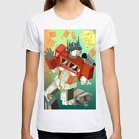 Optimus Prime DARE to keep your dreams alive! Womens Fitted Tee Ash Grey SMALL