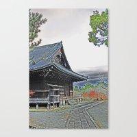 Temple at Dusk Canvas Print