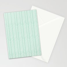 Herringbone Mint Stationery Cards