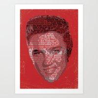 Typographic Icons - Elvis Presley Art Print