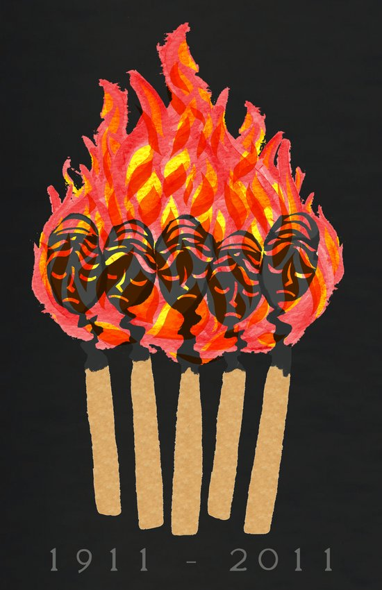 ∆Shirtwaist Fire Art Print