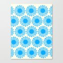 Vintage Flower_Turquoise Canvas Print