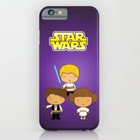 iPhone & iPod Case featuring Star Wars Trio by Pigtails